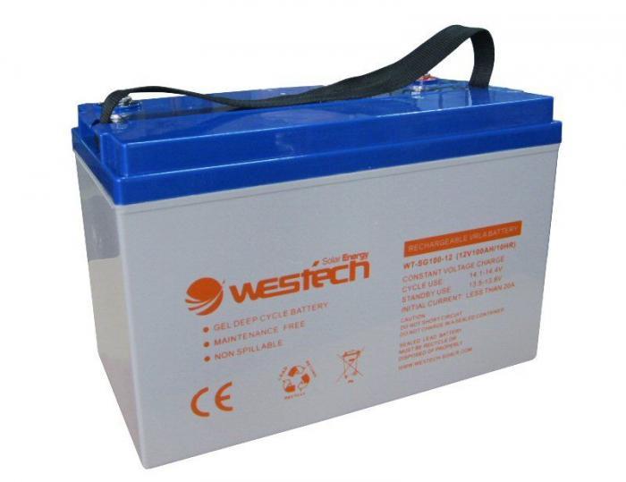 Acumulator GEL 100Ah 12V Westech Solar-big